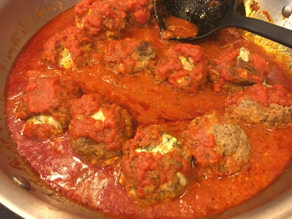 Well Dined | Spinach Dip Stuffed Meatballs