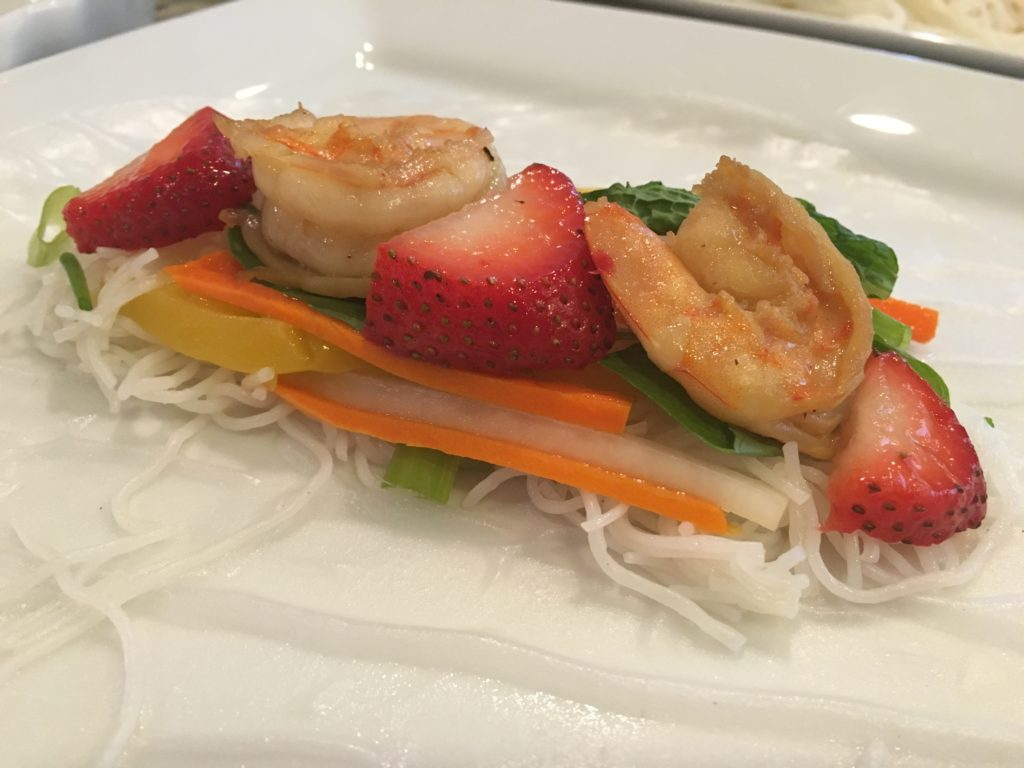 Well Dined | Shrimp and Strawberry Summer Rolls