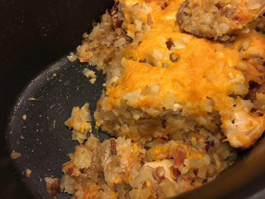 Well Dined | Chicken, Bacon, and Ranch Slow Cooker Tater Tot Casserole