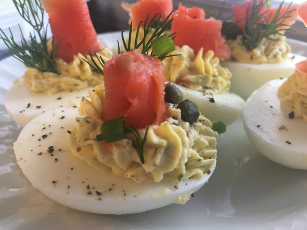 Well Dined | Smoked Salmon Deviled Eggs