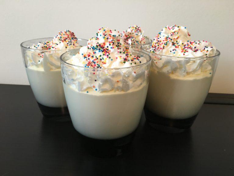 Well Dined   Vanilla Pudding Shots
