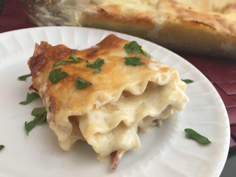 Well Dined   Chicken Bacon Alfredo Lasagna Roll-ups