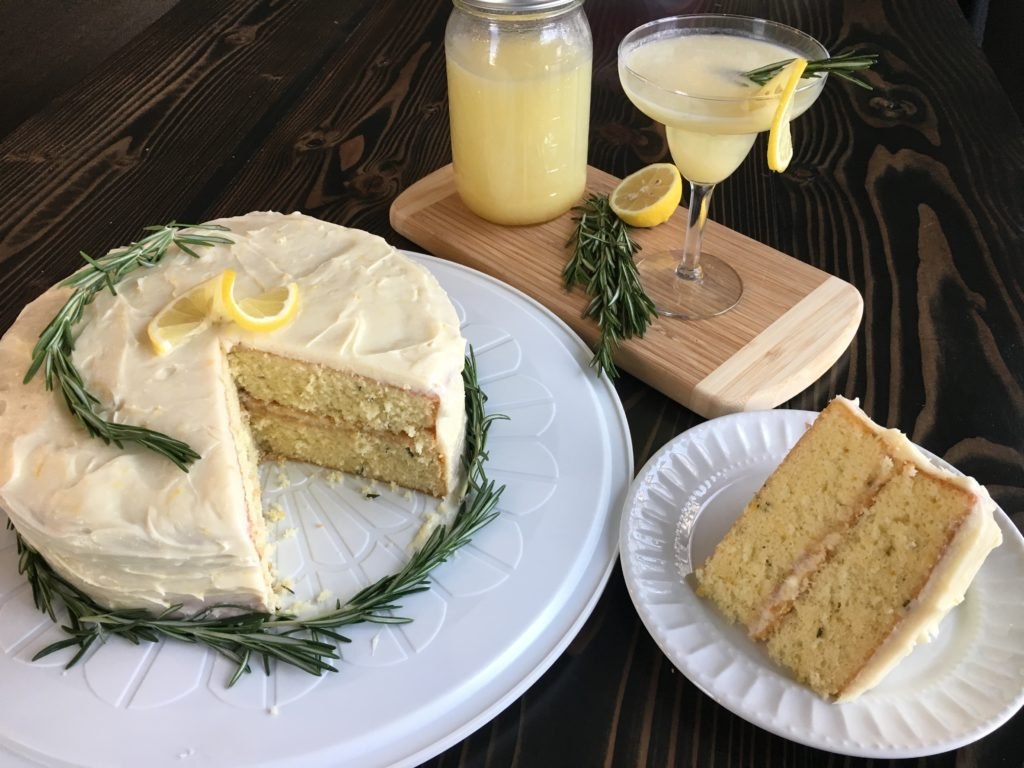 Well Dined | Lemon Rosemary Cake and Martini