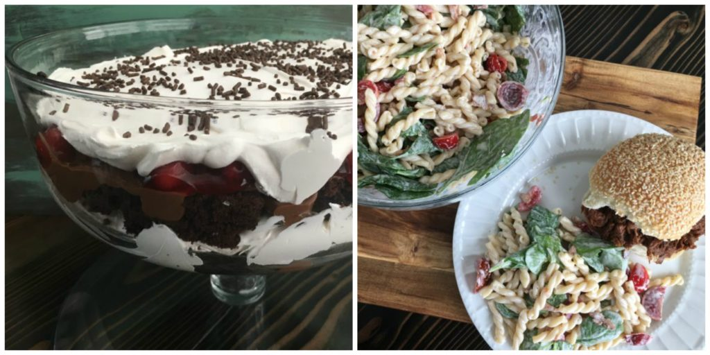 Well Dined | BBQ Beef Sandwiches, BLT Pasta Salad, Black Forest Trifle