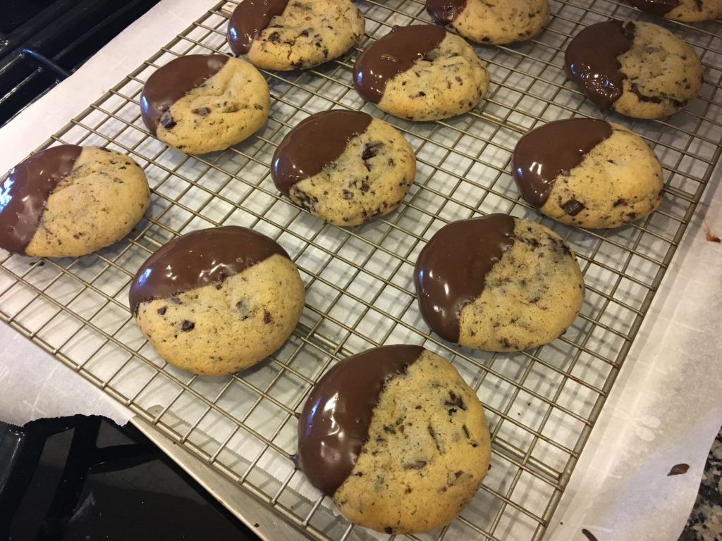 Well Dined   Spicy Rosemary Chocolate Chip Cookies